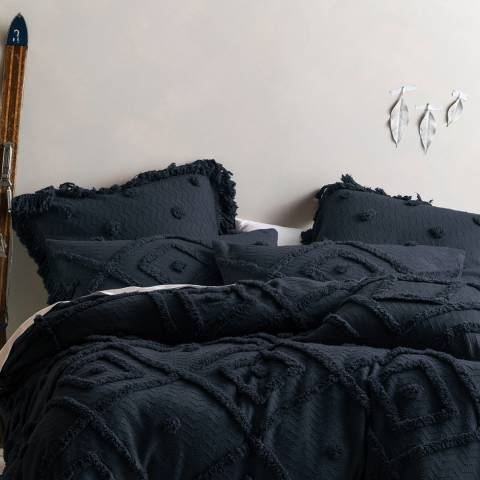 Linen House Adalyn Pair of Housewife Pillowcases, Indigo