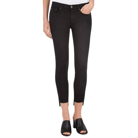 7 For All Mankind Black Skinny Illusion Luxe Jeans