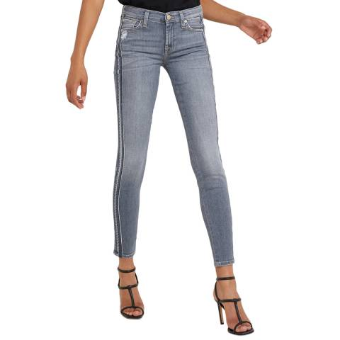7 For All Mankind Grey Skinny Wilshire Illusion Jeans