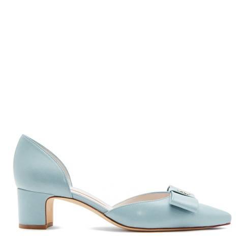 Lulu Guinness Aqua Bow Helena Mini Heels