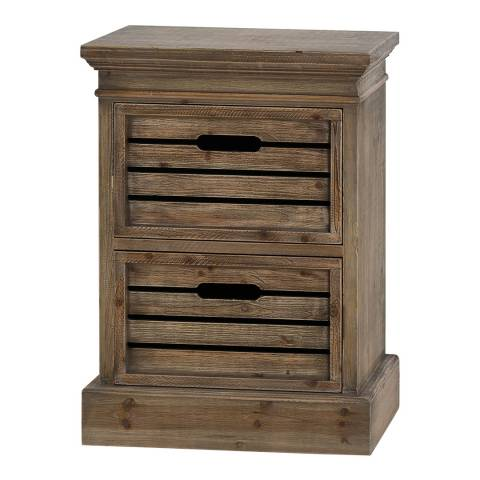 Hill Interiors Brooklyn Distressed Pine Two Drawer Chest