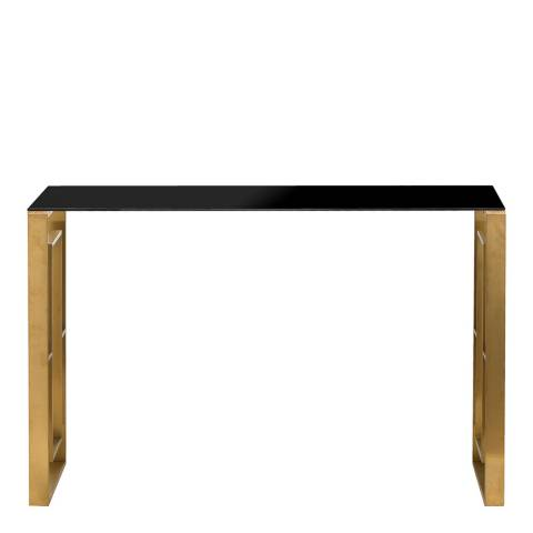 Hill Interiors The Edwin Stainless Console Table In Brushed Brass