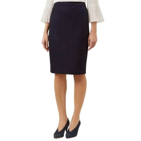 Hobbs London Navy Everly Skirt