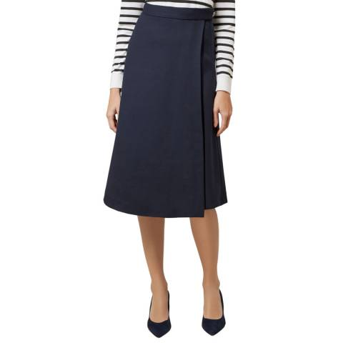 Hobbs London Navy Julianna Skirt