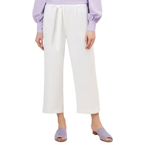Hobbs London Cream Lula Trousers