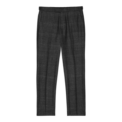 Reiss Charcoal Check Verve Trousers