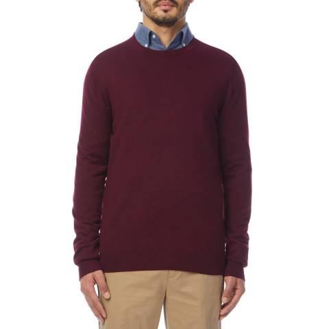 Reiss Bordeaux Essex Wool Blend Jumper
