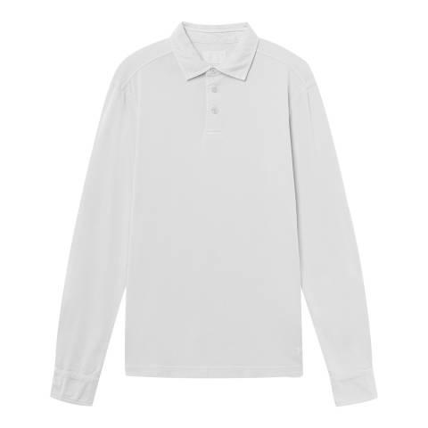 Hackett London White Long Sleeve Jersey Polo Shirt