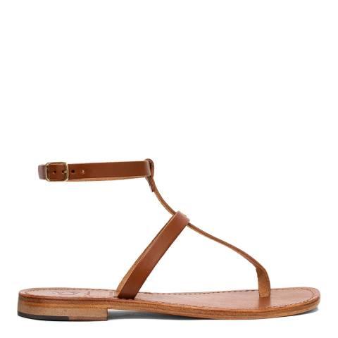 Oliver Sweeney Dark Tan Luxe Leather Pareti Gladiator Sandals