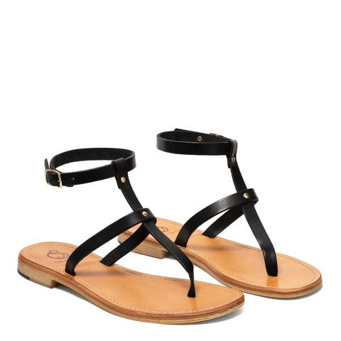 Oliver Sweeney Black Pareti Luxe Leather Gladiator Sandals