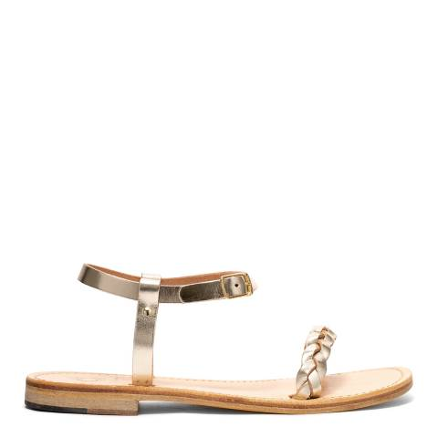 Oliver Sweeney Soft Gold Luxe Leather Biodola Braied Strap Sandals
