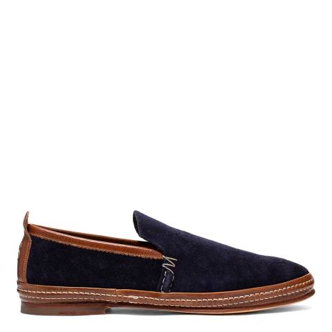 Oliver Sweeney Indigo Leather and Suede Summer Shoe