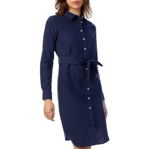 Crew Clothing Navy Oxford Shirt Dress