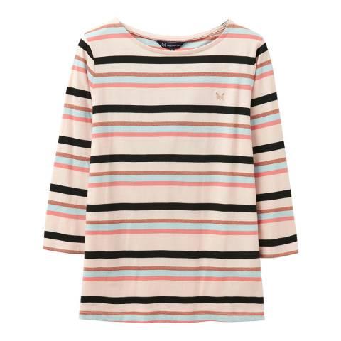 Crew Clothing Multi Breton Stripe Cotton Top
