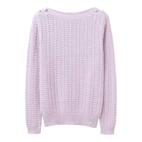 Crew Clothing Lilac Cable Crew Neck Jumper