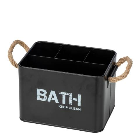 Wenko Gara 4 Compartment Bathroom Box, Black