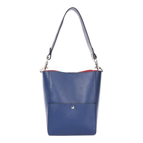 Giorgio Costa Blue Leather Shoulder Bag