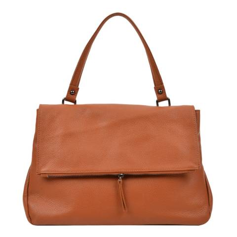 Carla Ferreri Brown Leather Handbag