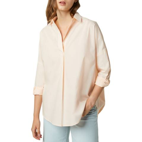 French Connection Light Pink Poplin Long Sleeve Shirt