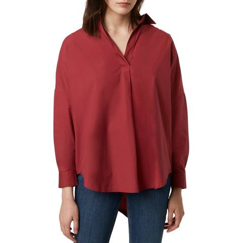 French Connection Pink Poplin Long Sleeve Shirt