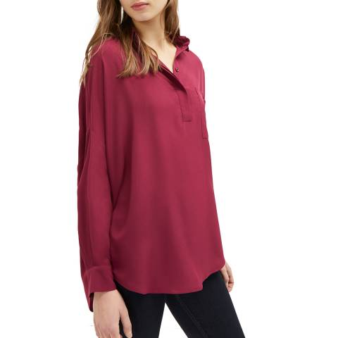 French Connection Red Stella Light Pocket Shirt