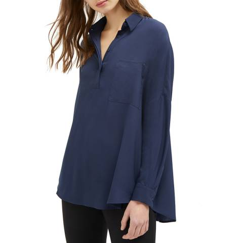 French Connection Blue Stella Light Pocket Shirt