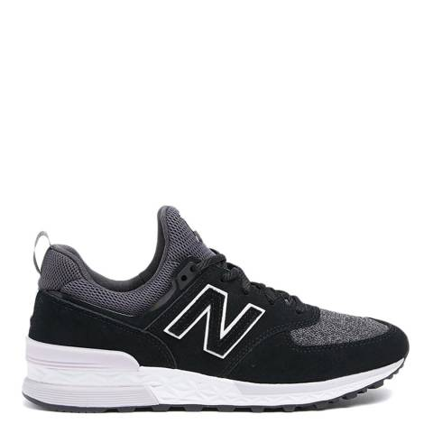 New Balance Black & White Sport 574 Sneakers