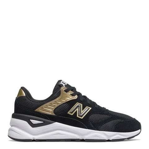 New Balance Black & Gold X-90 Sneakers
