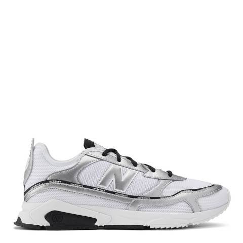 New Balance White, Silver & Black X-Racer Sneakers