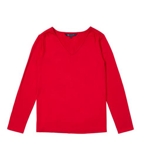 Crew Clothing Red Long slvelly top