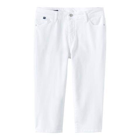 Crew Clothing White Murray Crop 3/4 Length Jean