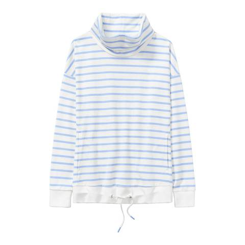 Crew Clothing White/Blue Creswell Sweat