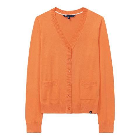 Crew Clothing Orange Pocket Cardigan