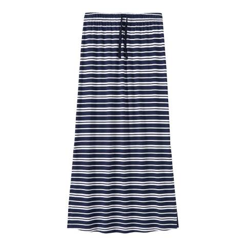 Crew Clothing Navy/White Stripe Maxi Skirt