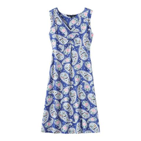 Crew Clothing Blue Jersey Dress