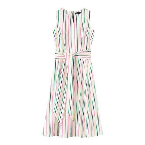 Crew Clothing Multi Notch Neck Sleeveless Dress