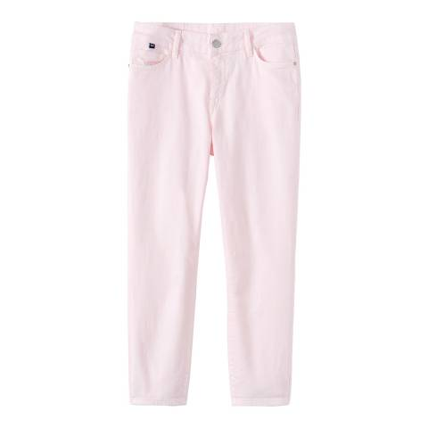 Crew Clothing Pink Cropped Cotton Skinny Jean