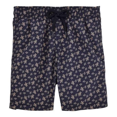 Vilebrequin Boy's Navy Blue Micro Turtle Swim Shorts