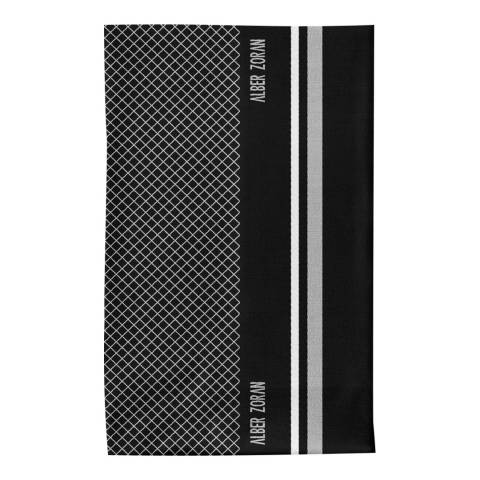 Alber Zoran Black/White Geometric Long Scarf
