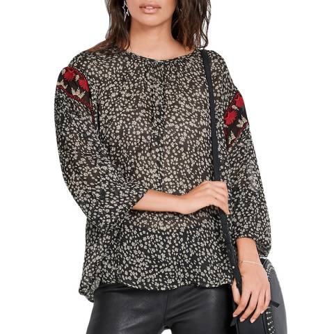hush Multi Daisy Embroidered Top