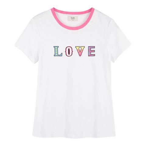 hush White Cotton Love T Shirt