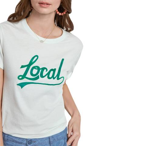 hush White Cotton Local Tourist Tee