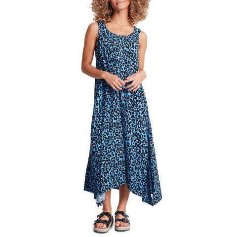 hush Blue Leopard Print Alvers Dress