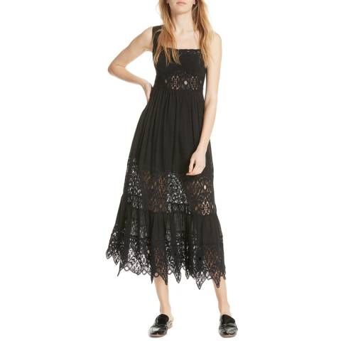 Free People Black Caught Your Eye Maxi Dress
