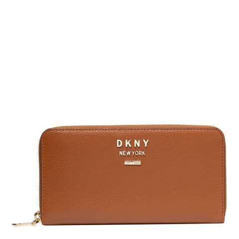 DKNY Caramel Large Whitney Zip Around Wallet