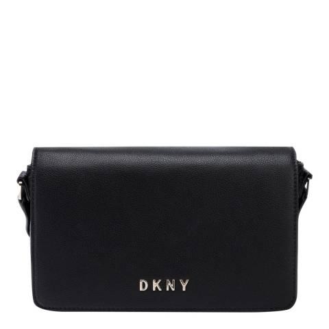 DKNY Black Clara Flap Shoulder Bag