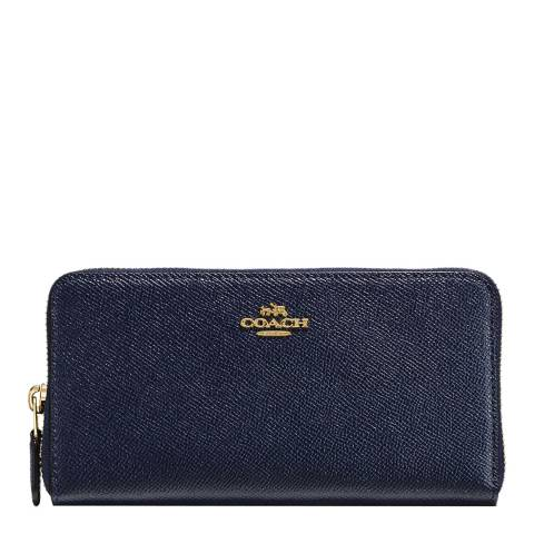 Coach Midnight Navy Leather Accordion Wallet