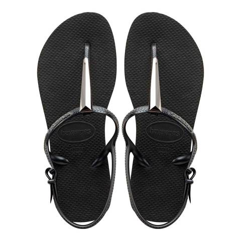 Havaianas Black Freedom Maxi Sandals