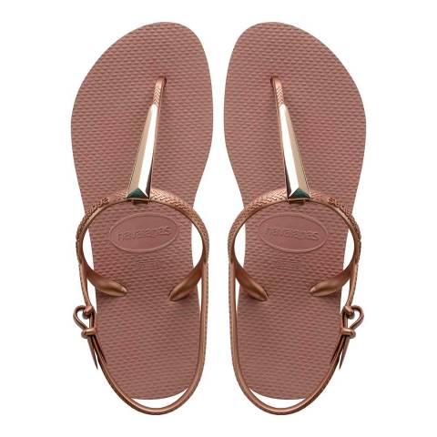 Havaianas Rose Crocus Freedom Maxi Sandals