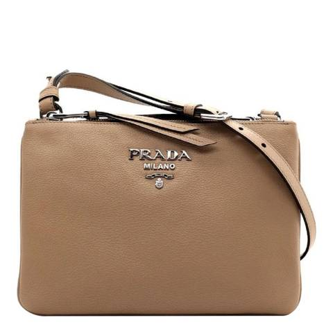 Prada Nude Prada Leather Crossbody Bag